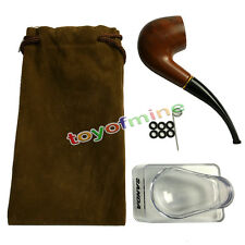 PIPE A TABAC COURBE FOYER EN BOIS LUSTRE, NEUF