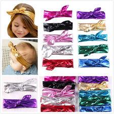 10pcs Baby Girl Toddler Bowknot Headband Turban Shiny Butterfly Knot Hairband