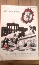 CONVERSE brand footwear 1990 UK Poster size Press ADVERT 16x12 inches