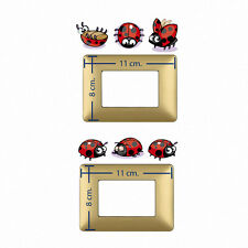 coccinelle stickers adesivi interruttori ladybugs wall decal light switch  6 pz.