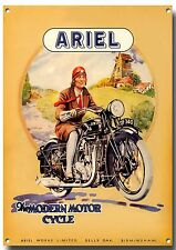 ARIEL MOTORCYCLES METAL SIGN,CLASSIC,VINTAGE,ENTHUSIAST,COLLECTABLE.