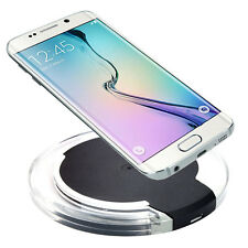 Fashion Qi Wireless Charger Charging Round Clear Pad for Qi Phones SmartphoneA