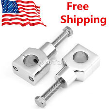 1'' Chrome Motorcycle Handlebar Risers for Harley Sportster Dyna Softail
