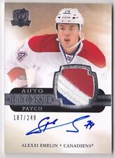 ALEXEI EMELIN RC 2011-12 UPPER DECK THE CUP 3 COLOR PATCH AUTO #187/249 ON CARD
