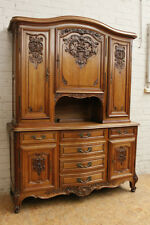 1112067 : Large Antique French Louis XV Carved Buffet Sideboard Cabinet