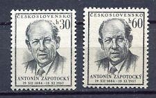 37059) CZECHOSLOVAKIA 1957 MNH** Zapotocky Type 2v