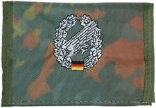 german army Paratrooper camo flecktarn  Men's Nylon Bifold Velcro Wallet purse