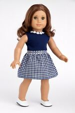 "Saturday Afternoon - Clothes for 18"" Doll, Navy Dress (Shoes Sold Separately)"