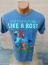 Mens Mad Engine Marvel Brand Spiderman Saves the Day Like a Boss Shirt NWT L