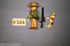 (H324) playmobil personnage garde chasse