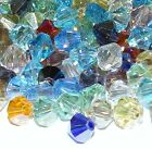 CB820L Assorted Mix Color AB 8mm Faceted Bicone Cut Crystal Glass Beads 25/pkg