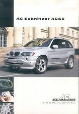 AC Schnitzer ACS5 X5 Prospekt (D) 2003 brochure Auto Pkw Autoprospekt broschyr