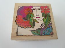 Laurel Burch Blossoming Woman 941F rubber stamp