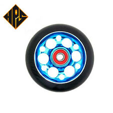 1X PRO STUNT SCOOTER AQUA BLUE DRILLED METAL CORE WHEEL 110mm ABEC 9 BEARING 11