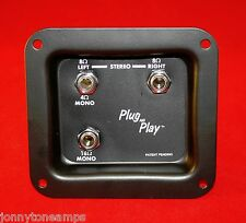 Jack plate - Mono/Stereo Plug and Play 4 8 16 Ohm pre-wired plug & play 1/4""