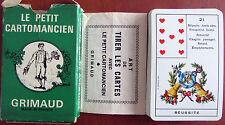Jeu de cartes de Bonne Aventure Le Petit Cartomancien / Grimaud 1978 Avec livret