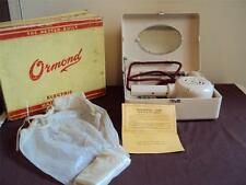 ormond bakelite hairdryer,original box,casket,hair bonnet,receipt 1949.