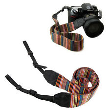 Épaule Camera Neck Striped Strap Ceinture Fit Pour Sony Nikon Canon Pentax DSLR