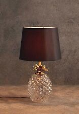 Large Luxury Cut Glass Antique Brass Pineapple table lamp gold Urn Modern Exotic