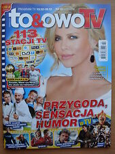 To & Owo TV 50/2014 CHARLIZE THERON on front cover in.Christian Bale