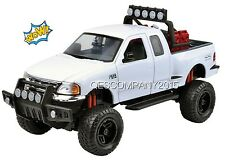 Motormax 1:24 2001 FORD F-150 FLARESIDE PICKUP TRUCK OFF ROAD WHITE #79132