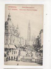 Anvers Canal au Sucre Fleche de la Cathedrale Belgium Vintage Postcard Esab 399b