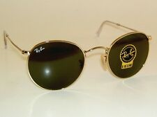 New RAY BAN  Sunglasses  ROUND METAL  RB 3447 001  Gold Frame  G-15 Glass Lenses
