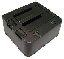 """USB 2.0 + Estación de acoplamiento E-SATA para hasta dos x Sata 2.5""""/3.5"""" unidades de disco duro"""