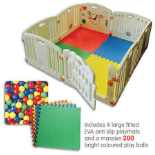 ALL STARS Baby Playpen | Fun Activity Panel | 8pc's | Non-Toxic Materials