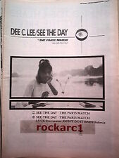 D C LEE See The Day 1985 UK Poster size Press ADVERT 16x12 inches  Style Council