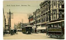 Sherman TX -TEXAS TRACTION COMPANY-EARLY TROLLEY TO DALLAS- Postcard