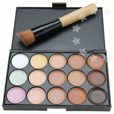Pro 15 Coluors Concealer Palette Kit Face Makeup Contour Cream With Brush New