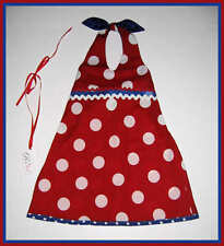 Fusion Boutique Pageant Resell Oli*Beli Red Polkadot Halter Dress 3 4 3T 4T NEW