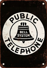 Bell System Public Telephone Vintage Look Reproduction Metal Sign
