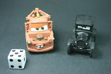 Lot of 2 Disney Pixar Cars Supercharged Diecast - Lizzie & Tow Toe Truck