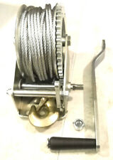 "1,200 lb. Hand Winch with 3/16"" Diameter x 65' Long Heavy Duty Cable Steel Frame"
