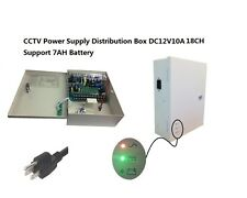 CCTV Camera UPS Box 12V DC 18CH 10Amps Power Battery Support Battery Protection