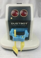 Vintage Tandy Radio Shack Dustbot Robot Toy Collected Desk Vacuum W Accessories