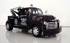 1953 Chevy Tow Truck Jack Daniels Graphics  Applied 1:24 Black Diecast Truck