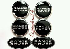 Range Rover/Land rover Front/Rear Tailgate Grille Badges & full wheel cap set.