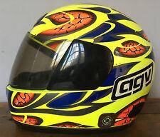 Casco Agv Italiano R4 Moto Crash Talla 56 dayglow Motocicleta Visera Ahumado