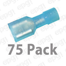 """FEMALE FULLY INSULATED QUICK DISCONECT TERMINAL NYLON .25"""" BLUE 16-14g#103D-75PK"""