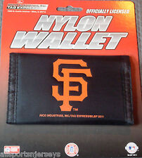 MLB NWT PRINTED TRI-FOLD NYLON WALLET - SAN FRANCISCO GIANTS