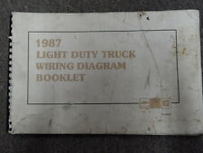1987 Chevy Light Duty Truck Electrical Wiring Diagram Service Shop Manual OEM x