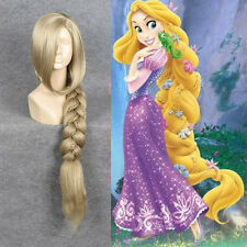 Disney Movie Tangled Rapunzel Cosplay Wig Long Blonde Big Plait Braid Tail Wigs