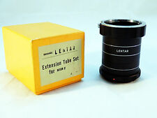 Vintage LENTAR EXTENSION TUBE SET FOR NIKON F (3 PIECE) w/BOX ~VERY NICE!