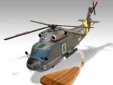 Kaman SH-2F Seasprite Wood Desktop Helicopter Model