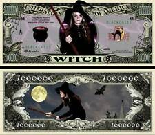 La SORCIERE BILLET MILLION DOLLAR US! Witch Halloween Monstre Horreur Magie Sort