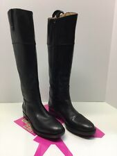 "Enzo Angiolini BLACK LEATHER Knee high ""EAELLERBY"" Riding Boots Size 6 M"
