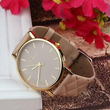 Geneva Womens Contracted Fashion Watches Casual Faux Leather Quartz Watch Reloj